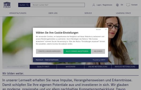 Vorschau von www.forum-institut.de, Forum Institut für Management GmbH