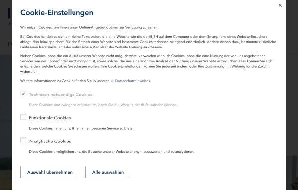 Vorschau von www.ib-sh.de, Investitionsbank Schleswig Holstein