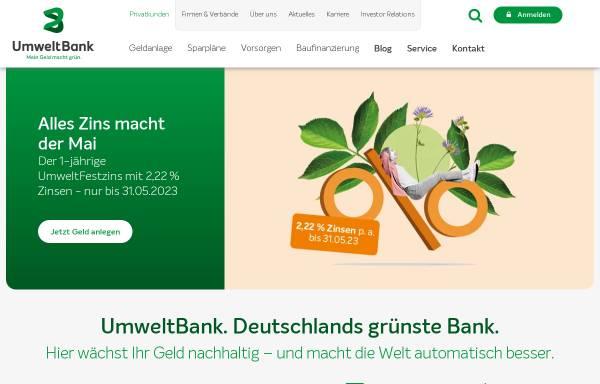 Vorschau von www.umweltbank.de, UmweltBank AG