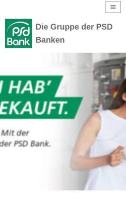 Vorschau der mobilen Webseite www.psd-bank.de, Verband der PSD Banken e.V.