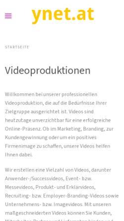 Vorschau der mobilen Webseite www.ynet.at, Ynet - Agentur für Kommunikation & Mediendesign