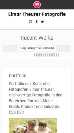 Vorschau der mobilen Webseite theurer-fotografie.de, Atelier für Fotografie und Styling - Elmar Theurer