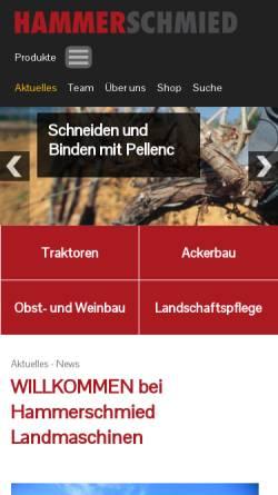 Vorschau der mobilen Webseite www.hammerschmied.at, Landmaschinen Hammerschmied & Söhne G.m.b.H.