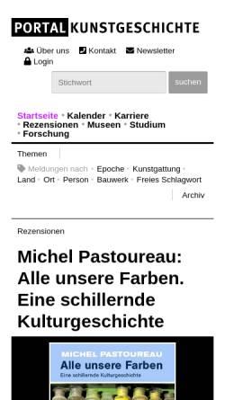 Vorschau der mobilen Webseite www.portalkunstgeschichte.de, Portal Kunstgeschichte