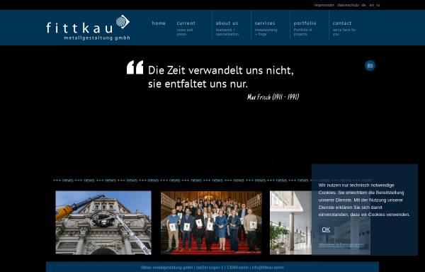 Vorschau von www.fittkau-metallbau.de, Stefan Fittkau Metallbau + Kunstschmiede GmbH