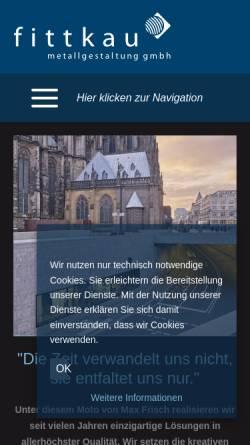 Vorschau der mobilen Webseite www.fittkau-metallbau.de, Stefan Fittkau Metallbau + Kunstschmiede GmbH