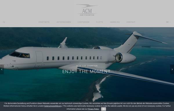Vorschau von www.acm-air-charter.de, ACM Air Charter Luftfahrtgesellschaft mbH