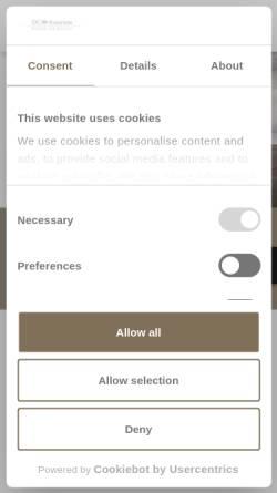 Vorschau der mobilen Webseite www.dc-aviation.com, DaimlerChrysler Aviation GmbH