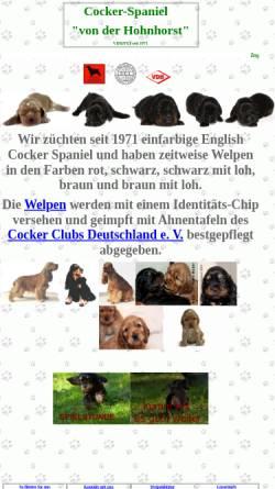 Vorschau der mobilen Webseite www.english-cocker.de, von der Hohnhorst