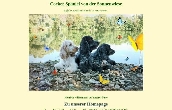 Vorschau von www.cocker-sonnenwiese.de, Von der Sonnenwiese