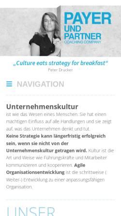 Vorschau der mobilen Webseite www.payerundpartner.at, Payer & Partner GmbH