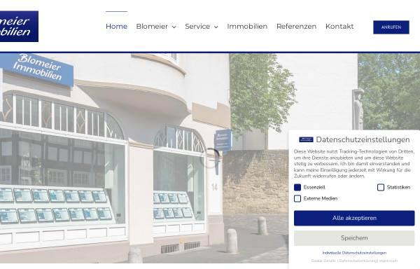 Vorschau von www.blomeier-immo.de, Blomeier Immobilien, Bünde