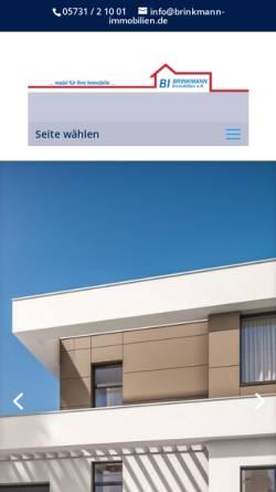 Vorschau der mobilen Webseite www.brinkmann-immobilien.de, Brinkmann Immobilien