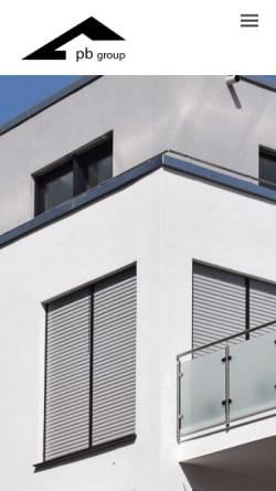 Vorschau der mobilen Webseite www.pb-planen-bauen.de, PB Planen + Bauen