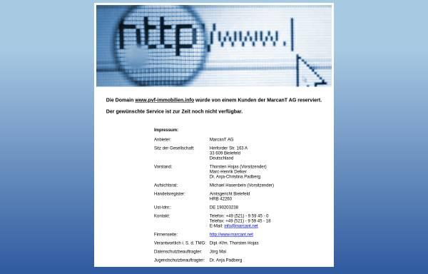 Vorschau von www.pvf-immobilien.info, PVF Immobilien GmbH [RDM], Spenge