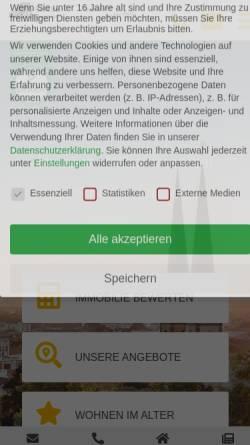 Vorschau der mobilen Webseite www.schuster-immobilien.de, Siegbert Schuster Immobilien [RDM]