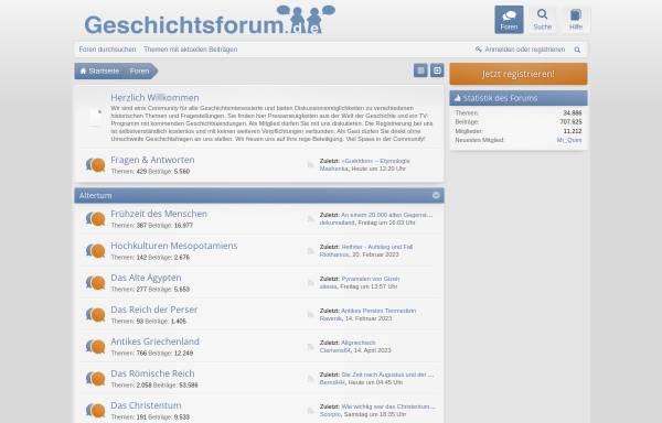 Vorschau von www.geschichtsfans.de, Community für Geschichtsinteressierte