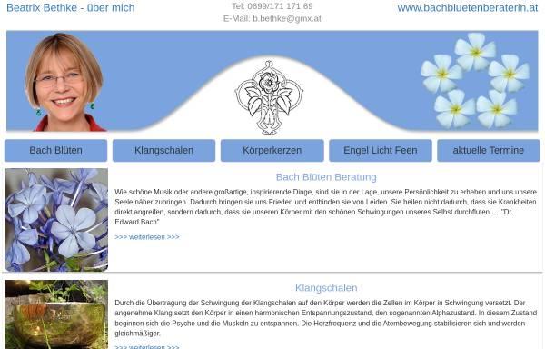 Vorschau von www.bachbluetenberaterin.at, Dipl.Ing. Beatrix Bethke - Bachblütenberaterin