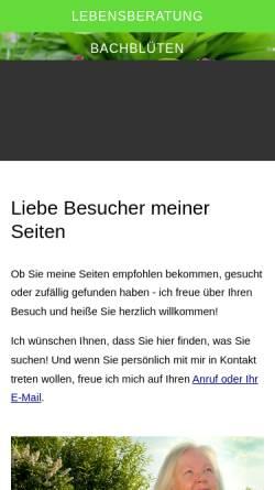 Vorschau der mobilen Webseite www.seelenraum.at, Edith Krackowizer