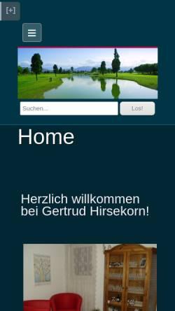 Vorschau der mobilen Webseite bachblueten-hirsekorn.ch, Gertrud Hirsekorn