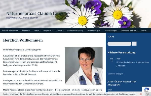 Vorschau von www.claudia-langohr.de, Claudia Langohr