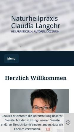 Vorschau der mobilen Webseite www.claudia-langohr.de, Claudia Langohr