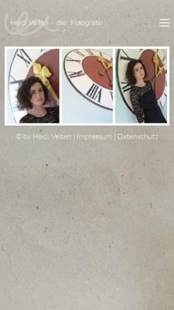 Vorschau der mobilen Webseite heidivelten.de, Kunterbunt - Heidi Velten