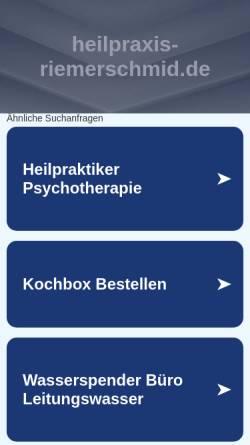 Vorschau der mobilen Webseite www.heilpraxis-riemerschmid.de, Heilpraxis Riemerschmid