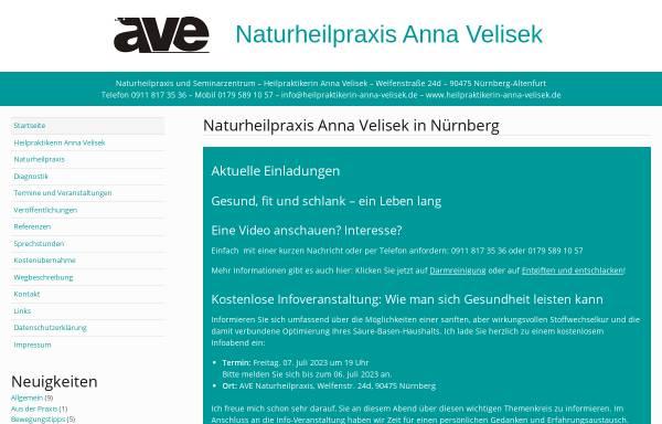 Vorschau von www.heilpraktikerin-anna-velisek.de, Naturheilpraxis und Seminarzentrum Anna Velisek