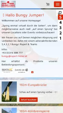 Vorschau der mobilen Webseite www.europabruecke.at, Rupert Hirner Bungy Jumping