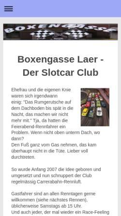 Vorschau der mobilen Webseite boxengasse-laer.de, Boxengasse Laer