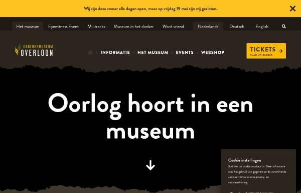 Vorschau von www.oorlogsmuseum.nl, Nationales Kriegs- und Widerstandsmuseum