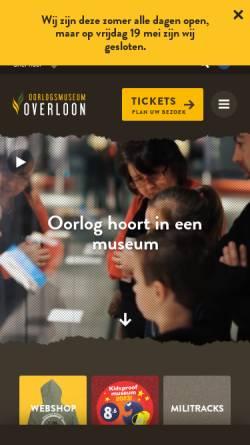 Vorschau der mobilen Webseite www.oorlogsmuseum.nl, Nationales Kriegs- und Widerstandsmuseum