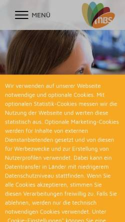 Vorschau der mobilen Webseite www.michael-bauer-schule.de, Michael Bauer Schule