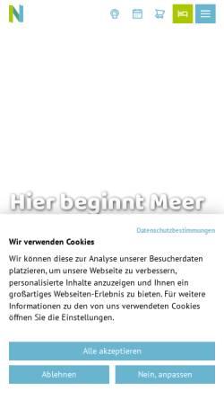 Vorschau der mobilen Webseite www.norddeich.de, Norden Norddeich