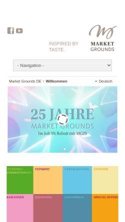 Vorschau der mobilen Webseite www.market-grounds.com, Market Grounds GmbH & Co.