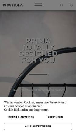 Vorschau der mobilen Webseite www.prima-net.it, Prima SAS