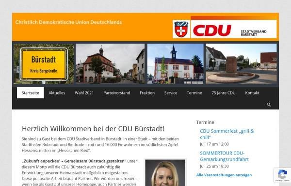 Vorschau von cdu-buerstadt.de, CDU Stadtverband Bürstadt
