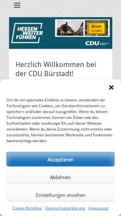 Vorschau der mobilen Webseite cdu-buerstadt.de, CDU Stadtverband Bürstadt