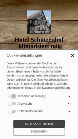 Vorschau der mobilen Webseite www.hotel-buerstadt.de, Hotel-Restaurant Schützenhof