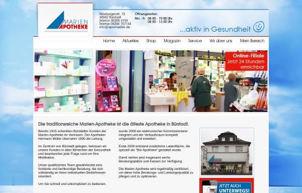 Vorschau von www.apomueller.de, Marien-Apotheke, Biotheke und Wellness Müller