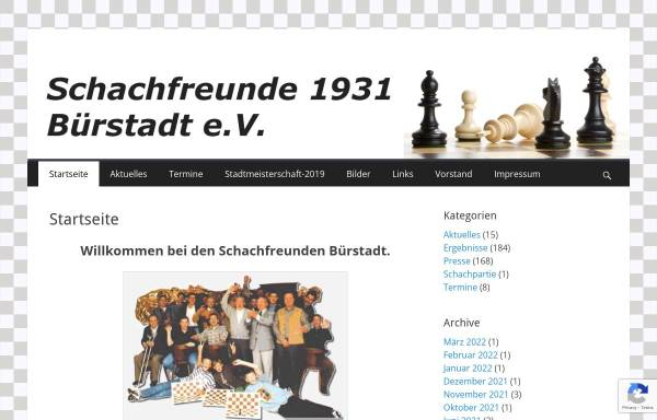 Vorschau von www.sf-buerstadt.de, Schachfreunde Bürstadt