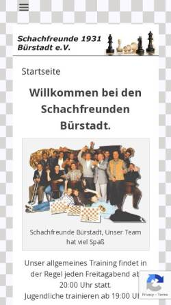 Vorschau der mobilen Webseite www.sf-buerstadt.de, Schachfreunde Bürstadt