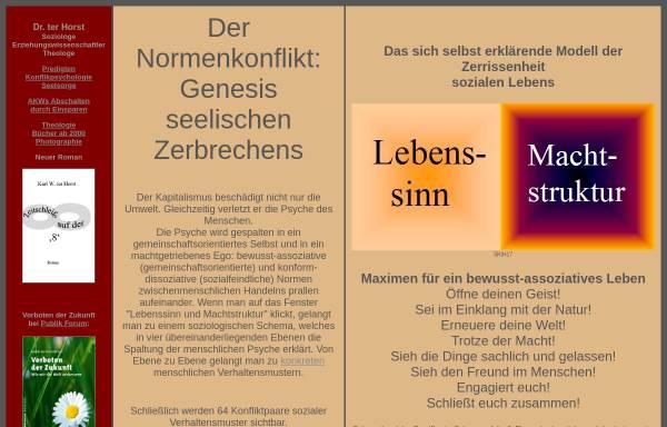 Vorschau von www.pastor-terhorst.de, Psychologie und Seelsorge [ter Horst, Dr. Karl W.]