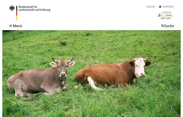 Vorschau von tgrdeu.genres.de, TGRDEU - Zentrale Dokumentation Tiergenetischer Ressourcen in Deutschland