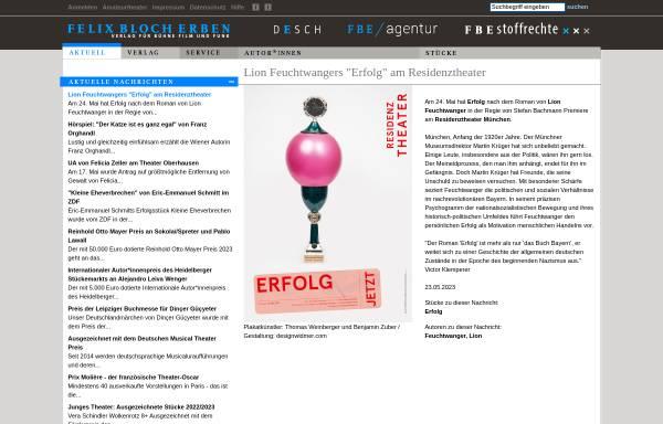 Vorschau von www.felix-bloch-erben.de, Felix Bloch Erben