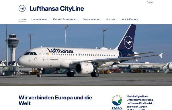 Vorschau von www.lufthansacityline.com, Lufthansa CityLine GmbH