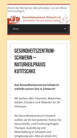Vorschau der mobilen Webseite gesundheitszentrum-schwerin.de, Gesundheitszentrum Schwerin