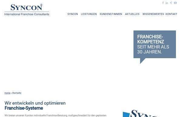 Vorschau von www.syncon-international.com, Syncon GmbH