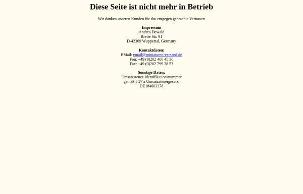 Vorschau von www.miniaturen-versand.de, Miniaturen Versand